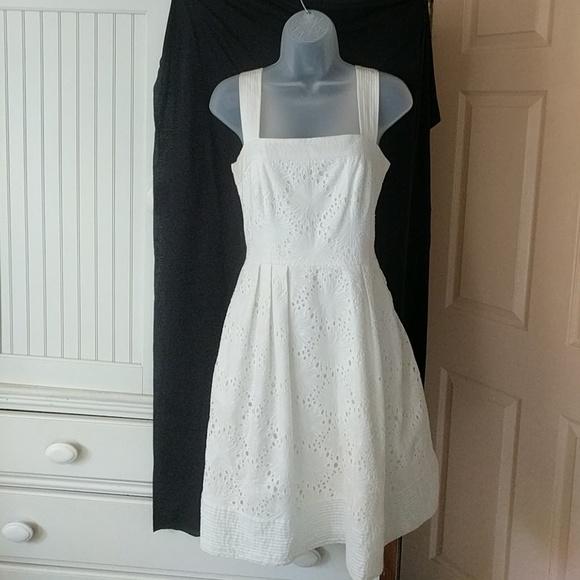 Morgan McFeeters Dresses & Skirts - Ivory Daisy Eyelet Sundress